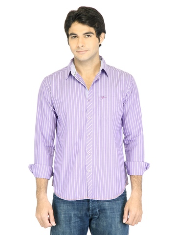 Highlander Men Stripes Purple Shirt