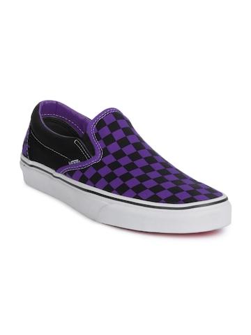 Vans Men Classic Slip-On Purple & Black Shoes