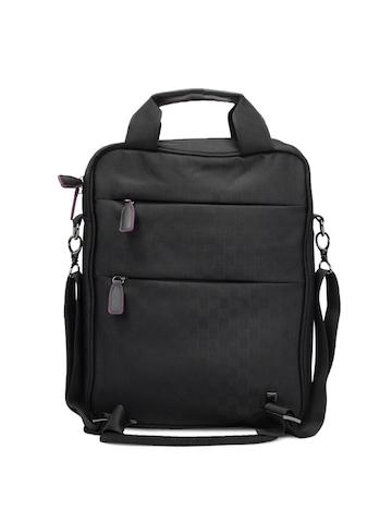 Peter England Unisex Black Messanger Bag