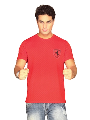 Puma Men's Ferrari Logo Red T-shirt