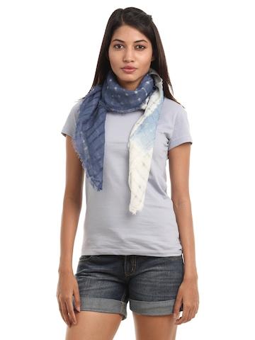 Femella Women Blue & White Scarf