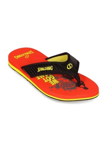 Spalding Men Red Flip Flops