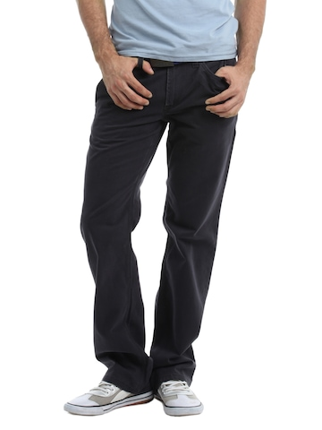 French Connection Men Charcoal Trousers