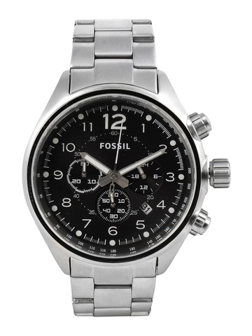 Fossil Men Black Dial Chronograph Watch CH2800