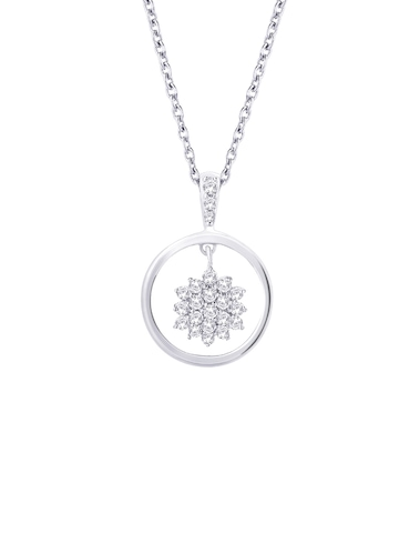Lucera Women Silver Pendant with Chain