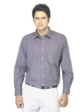 John Miller Men Striped Purple Shirt