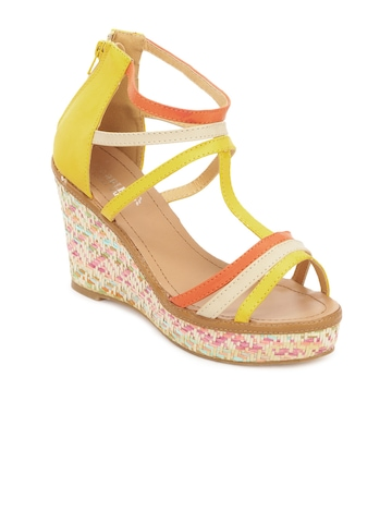 Cobblerz Women Yellow & Orange Sandals