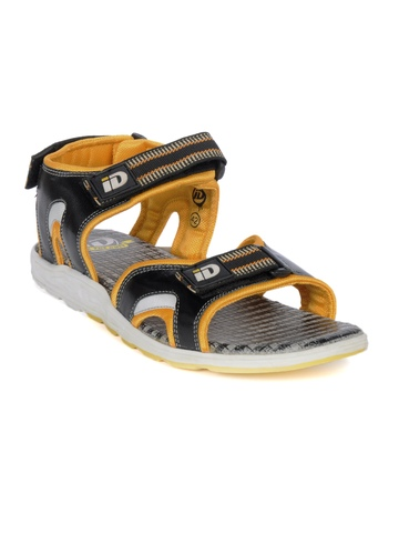 ID Men Black & Yellow Sandals