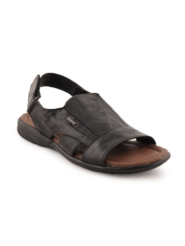Franco Leone Men Casual Black Sandals