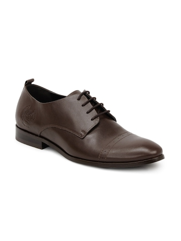 U.S. Polo Assn. Men Brown Derby Formal Shoes