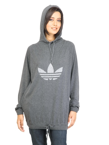 Adidas Originals Women F Sleek Trf Grey Sweatshirt