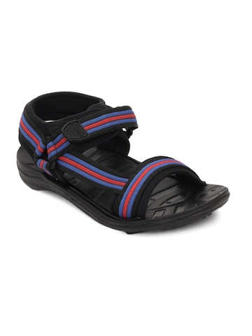 Gliders Men Black Fighter Sandals