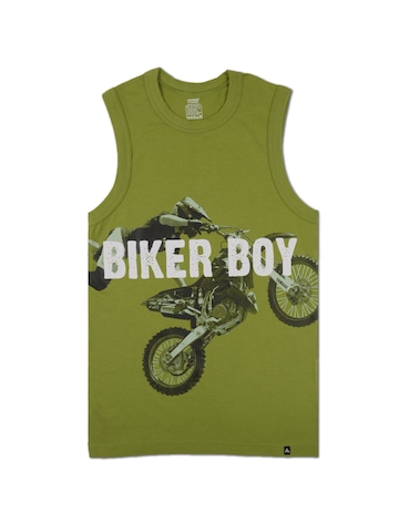 Crusoe Men Green Biker Boy Innerwear Vest