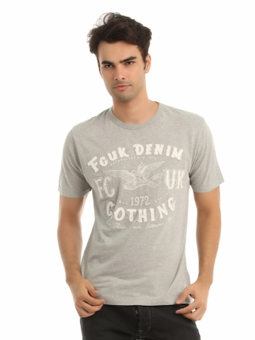 French Connection Men Grey T-shirt