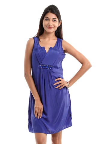 109F Women Blue Dress