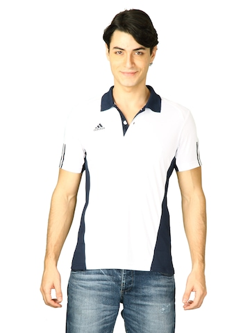Adidas Men White Polo T-shirt