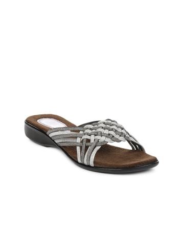 Portia Women Silver Flats