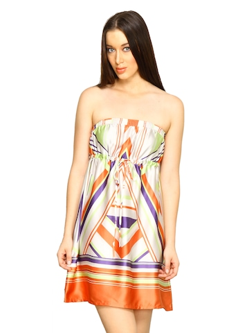 Forever New Women GeoPrint Multi Coloured Dress