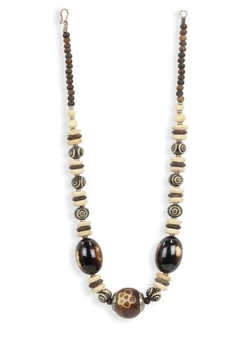 Adrika Women Cream & Brown Necklace