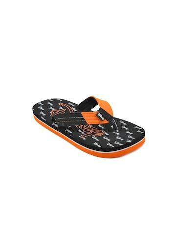Disney Unisex Kids Basic Black Flip Flops