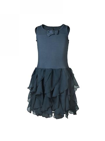 United Colors of Benetton Kids Girls Navy Blue Dress