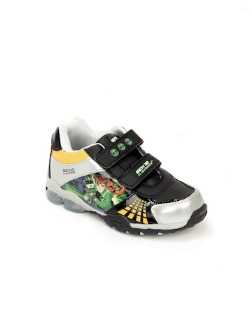 Ben 10 Boys Black & Silver Shoes