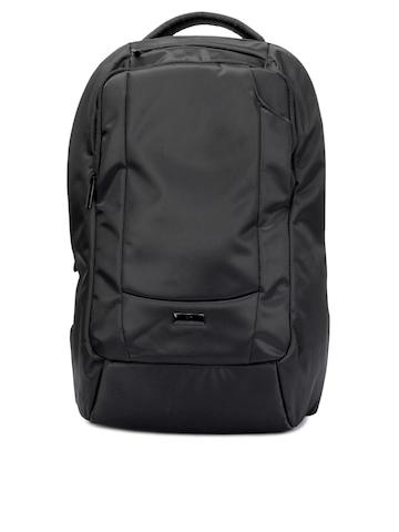 Peter England Unisex Black Backpack