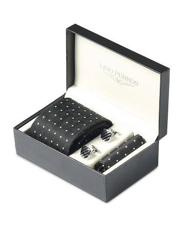 Lino Perros Men Formal Black Accessory Gift Set