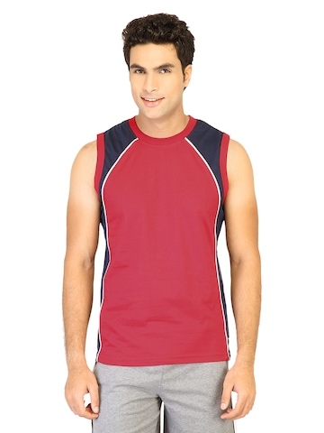 Hanes Men Sleeveless Crew Red Innerwear T-shirt