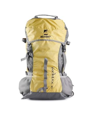 Wildcraft Unisex Grey & Yellow Rucksack