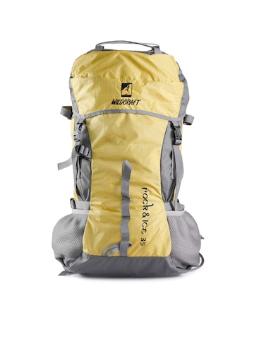 Wildcraft Unisex Grey & Yellow Rucksack
