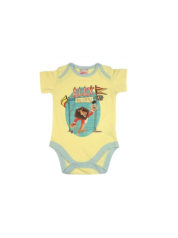 Madagascar3 Infant Boys Lemon Yellow Snapsuit Romper