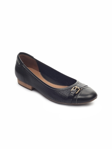 Clarks Women Henderson Fun Leather Black Shoes