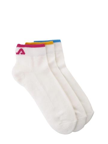 Fila Women Pack Of 3 White Socks