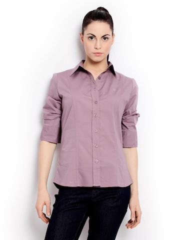 United Colors of Benetton Women  Winter Purple Shirt