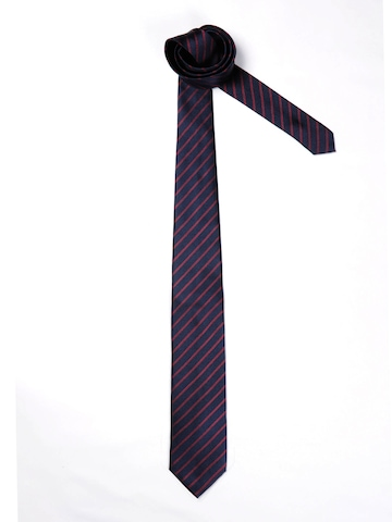 United Colors of Benetton Men Striped Navy Blue Tie