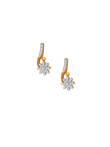 Lucera Women Silver Earrings With Gold Plating