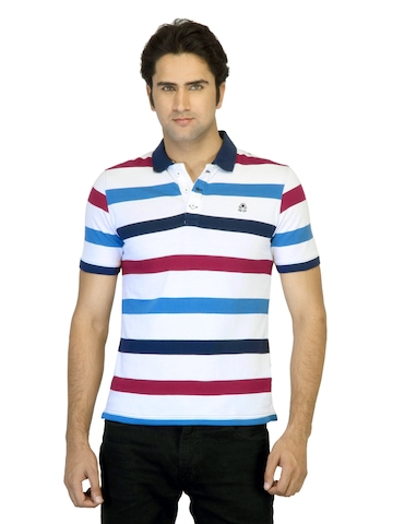 United Colors of Benetton Men White Polo T-shirt