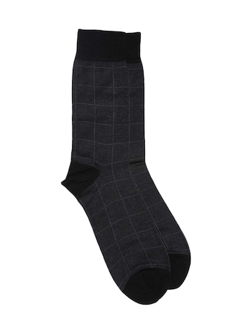 Raymond Men Grey & Black Socks