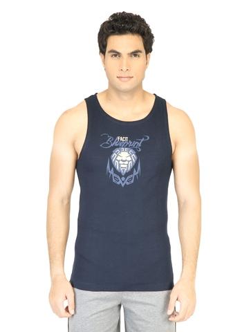Facit Men Bicep Tee Navy Blue Innerwear Vest