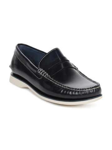 Clarks Men Black Quay Point Shoes