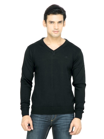 Arrow Men Black Sweater
