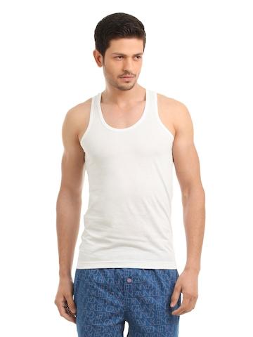 Park Avenue Men White Innerwear Vest