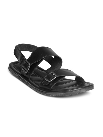 Arrow Men Black Sandals