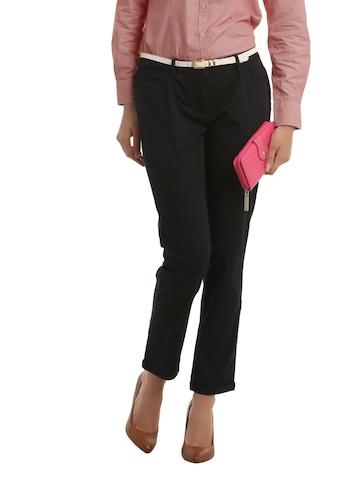 Allen Solly Woman Black Trousers