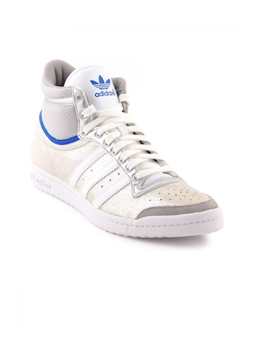 Adidas Originals Women Top Ten HI Sleek Silver Casual Shoes