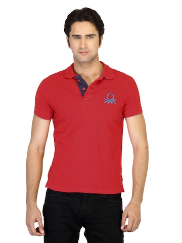 United Colors of Benetton Men Red T-shirt
