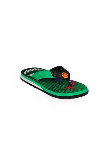 Marvel Boys Green Flip Flops