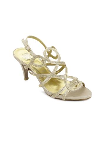 Cobblerz Women Gold-Toned Sandals