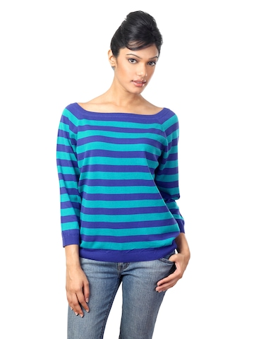 United Colors of Benetton Women Blue Sweater